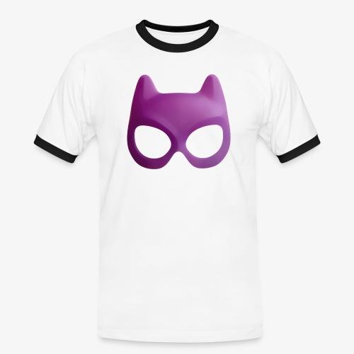Bat Mask - Koszulka męska z kontrastowymi wstawkami