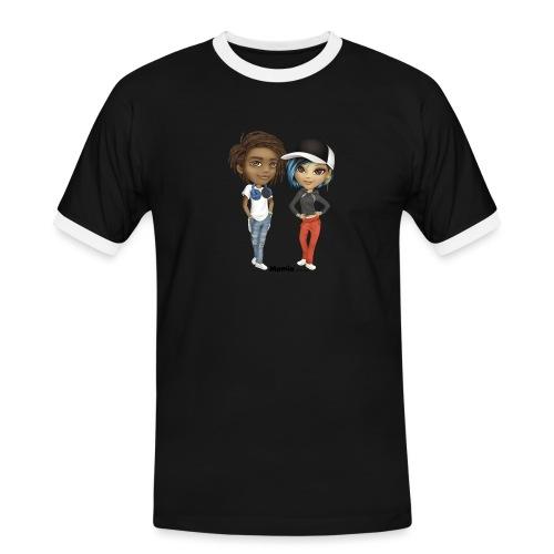 Maya & Noa - Mannen contrastshirt
