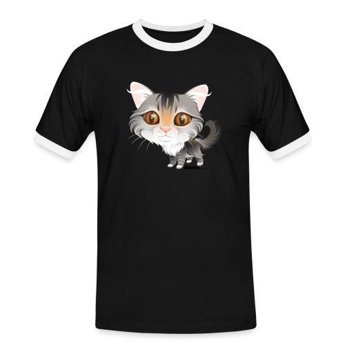 Kat - Mannen contrastshirt