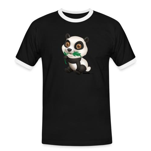 Panda - Mannen contrastshirt