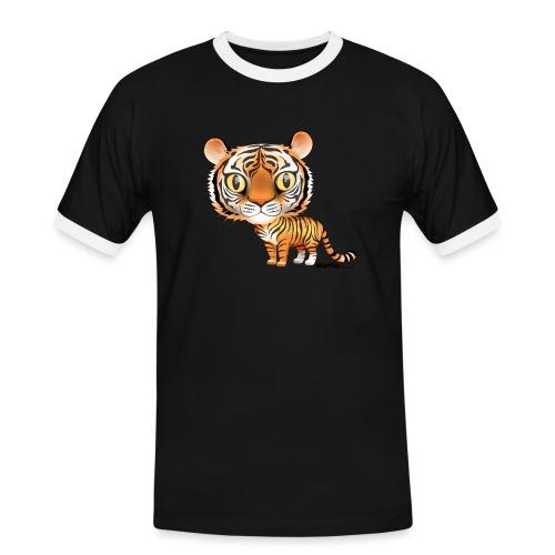 Tijger - Mannen contrastshirt