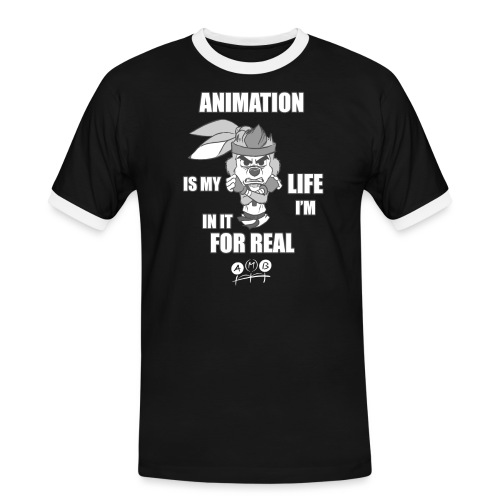 AMB Animation - In It For REAL - Men's Ringer Shirt