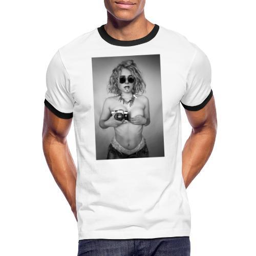 Wild Camera Chick - Männer Kontrast-T-Shirt