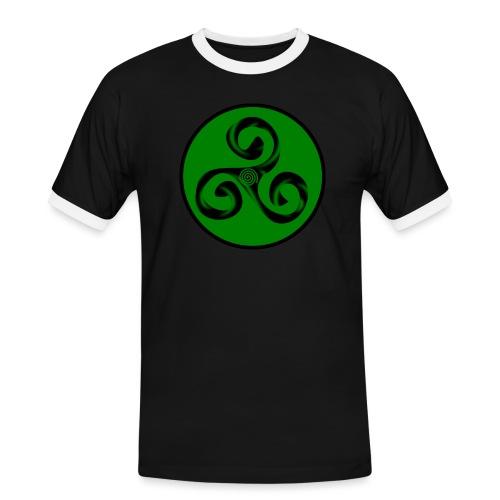 Triskel and Spiral - Camiseta contraste hombre