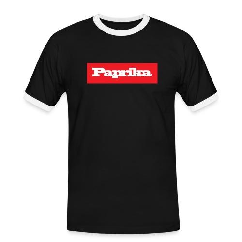 paprika - Männer Kontrast-T-Shirt