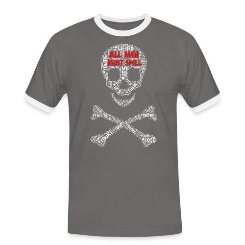 All Men Must Spell - Herre kontrast-T-shirt