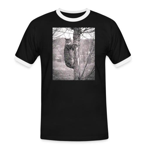 Grumpy Koala Katze im Baum - Männer Kontrast-T-Shirt