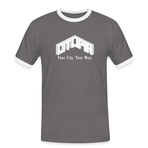 Logo with Slogan - Men's Ringer Shirt