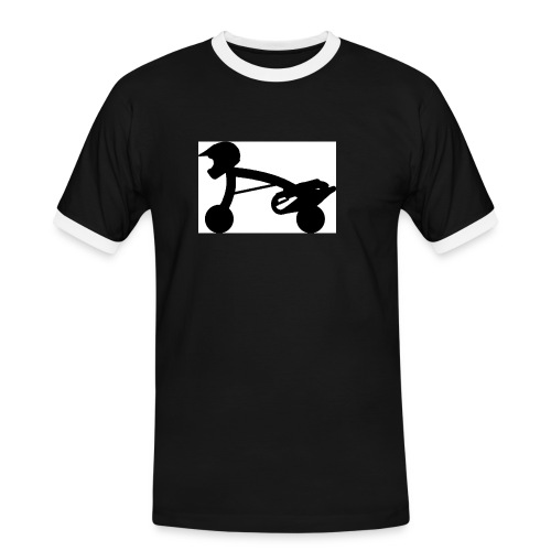 scooterman schwarz - Männer Kontrast-T-Shirt