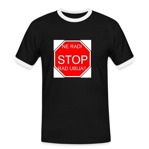 stop2 - Men's Ringer Shirt