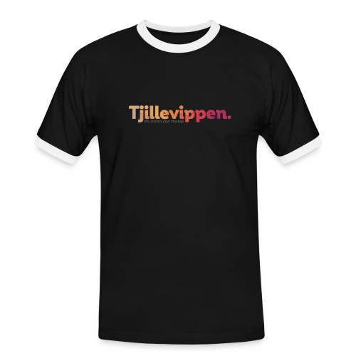 En podd om teknik - Second Edition Black - Kontrast-T-shirt herr