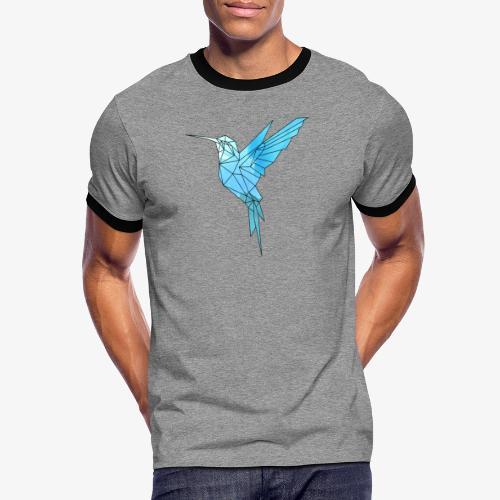 Kolibri Geometrisch - Männer Kontrast-T-Shirt