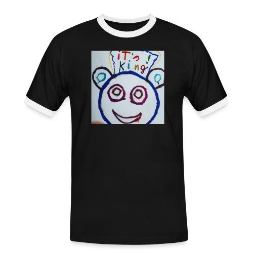 de panda beer - Mannen contrastshirt
