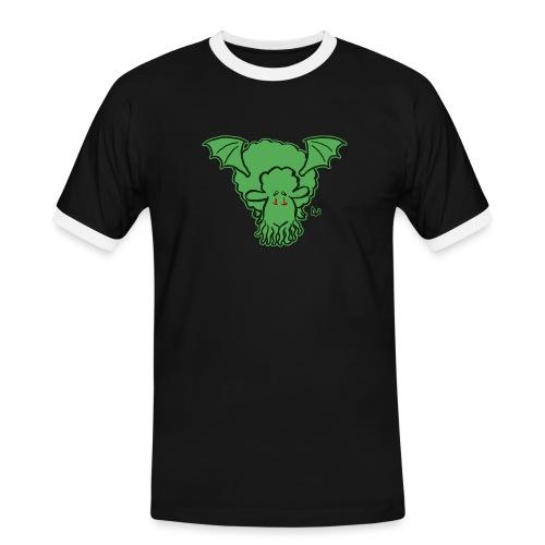 Cthulhu Sheep - Koszulka męska z kontrastowymi wstawkami