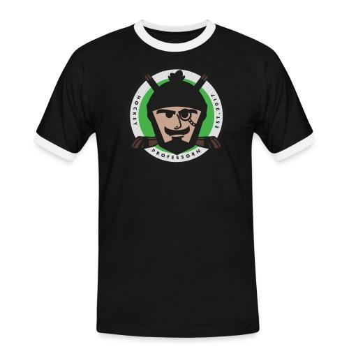 HockeyProfessorn logo - Kontrast-T-shirt herr