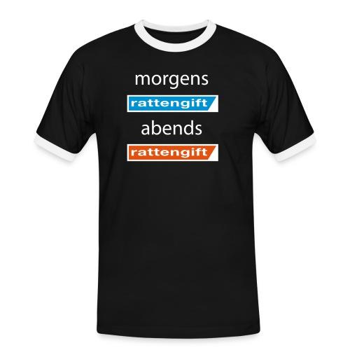 morgens rattengift abends rattengift - Männer Kontrast-T-Shirt