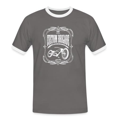 pinstrip transparent2 - T-shirt contrasté Homme