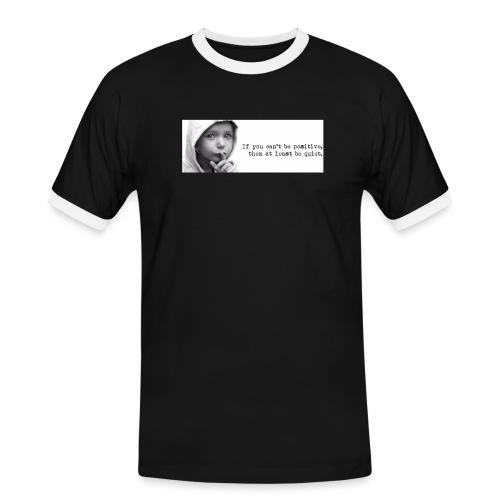 quiet - Mannen contrastshirt