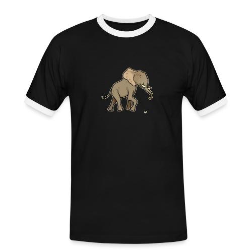 African Elephant (black edition) - Männer Kontrast-T-Shirt