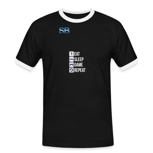 Eat Sleep Game Repeat - Herre kontrast-T-shirt