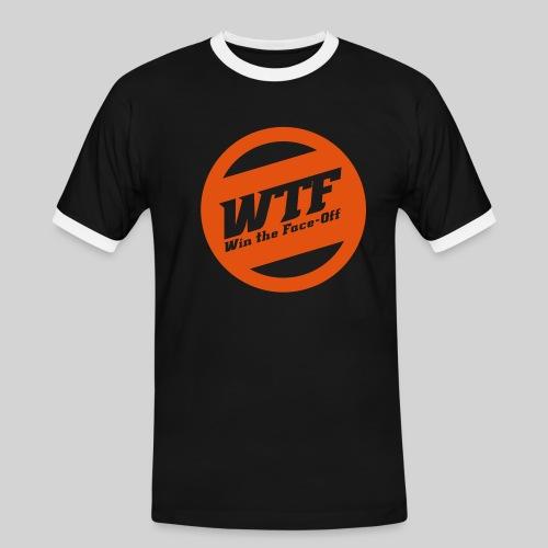 WTF - Win the Face-Off - Männer Kontrast-T-Shirt
