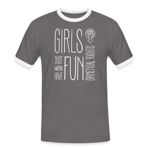 Girls just wanna have fundamental rights - Männer Kontrast-T-Shirt