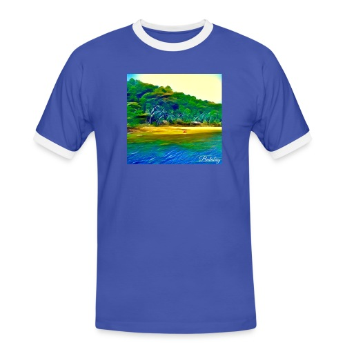 Tropical beach - Maglietta Contrast da uomo