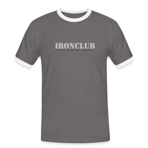 IRONCLUB - a way of life for everyone - Kontrast-T-skjorte for menn
