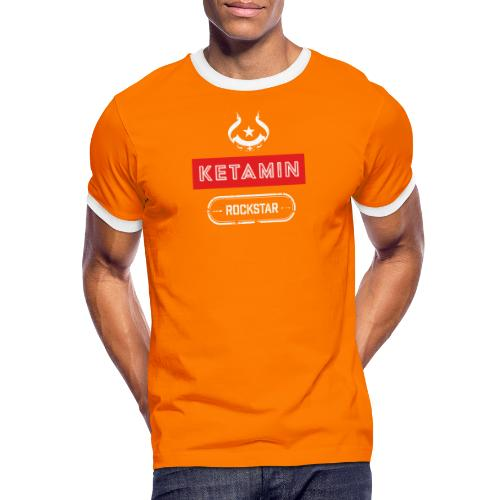 KETAMIN Rock Star - Weiß/Rot - Modern - Men's Ringer Shirt