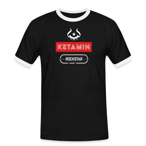 KETAMIN Rock Star - Weiß/Rot - Modern - Men's Ringer Shirt