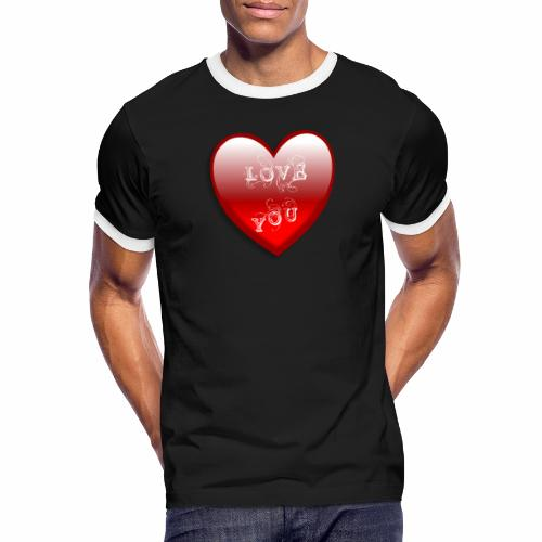 Love You - Männer Kontrast-T-Shirt