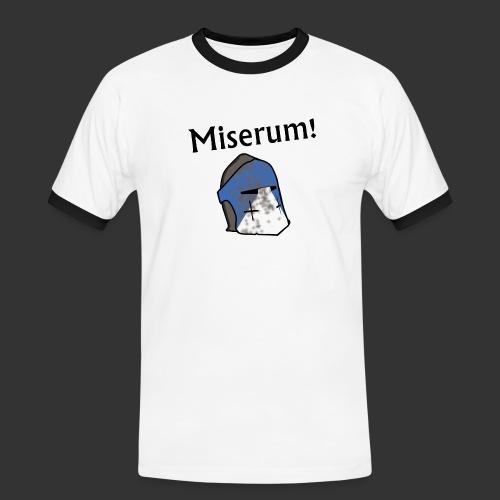 Warden Cytat Miserum! - Koszulka męska z kontrastowymi wstawkami