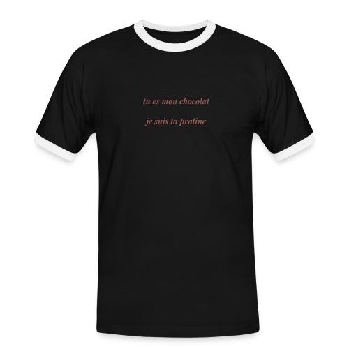 Tu es mon chocolat - T-shirt contrasté Homme