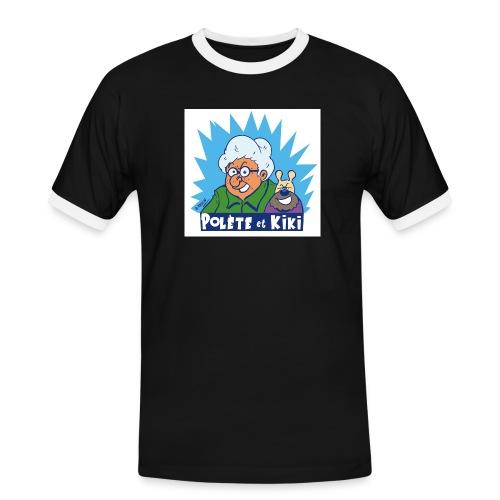 tshirt polete et kiki 1 - T-shirt contrasté Homme