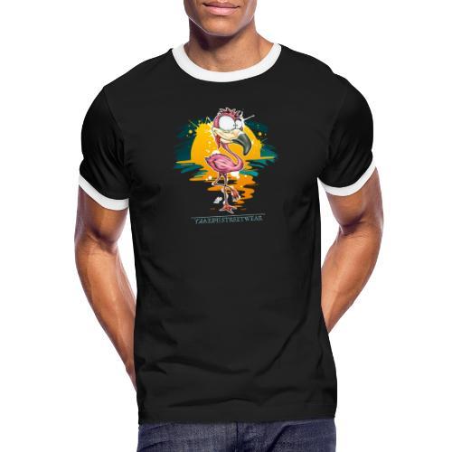 Flamingo Weirdo - Männer Kontrast-T-Shirt