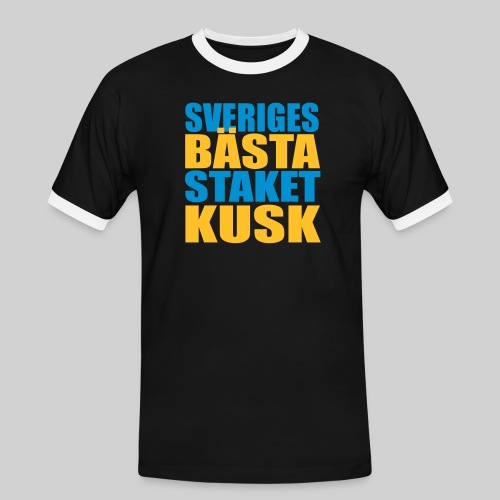 Sveriges bästa staketkusk! - Kontrast-T-shirt herr