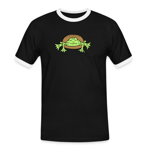 Froschburger French Burger Fastfood Frog ohne Käse - Männer Kontrast-T-Shirt