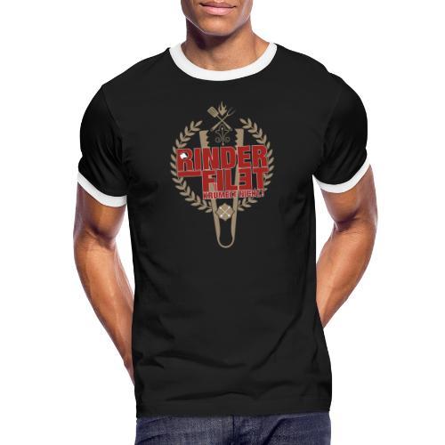RINDERFILET KRÜMELT NICHT - Männer Kontrast-T-Shirt