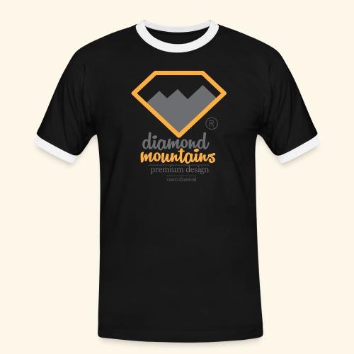 Diamond - Koszulka męska z kontrastowymi wstawkami