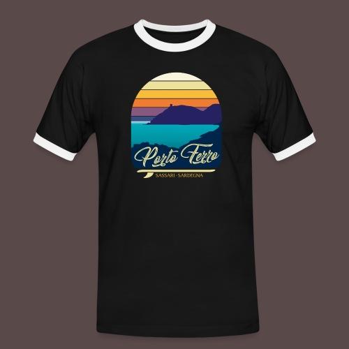 Porto Ferro - Vintage travel sunset - Maglietta Contrast da uomo