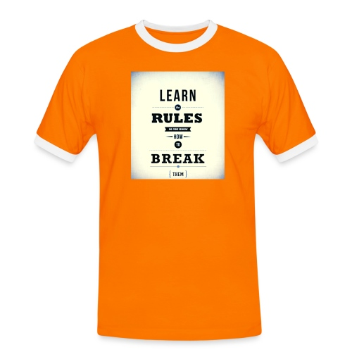 RULES - Mannen contrastshirt