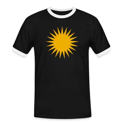 Kurdische Sonne Symbol - Männer Kontrast-T-Shirt