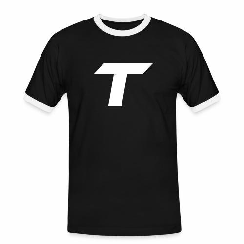 Tozy Designs Febuary Drop - Herre kontrast-T-shirt