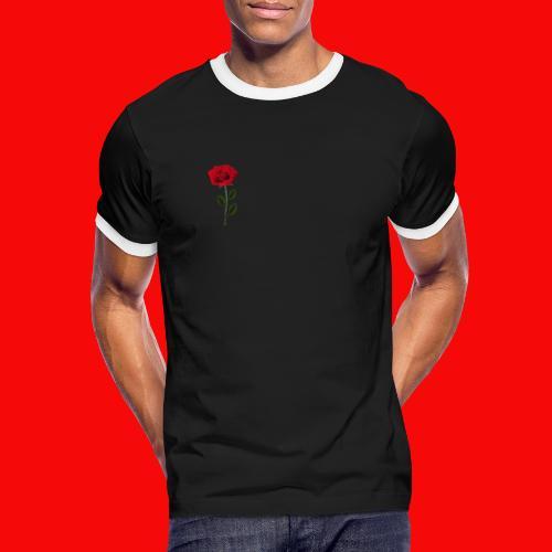Red Roses - Kontrast-T-shirt herr