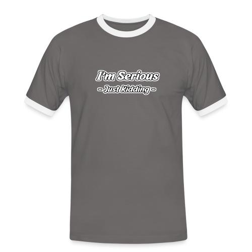 Just Kidding - Männer Kontrast-T-Shirt