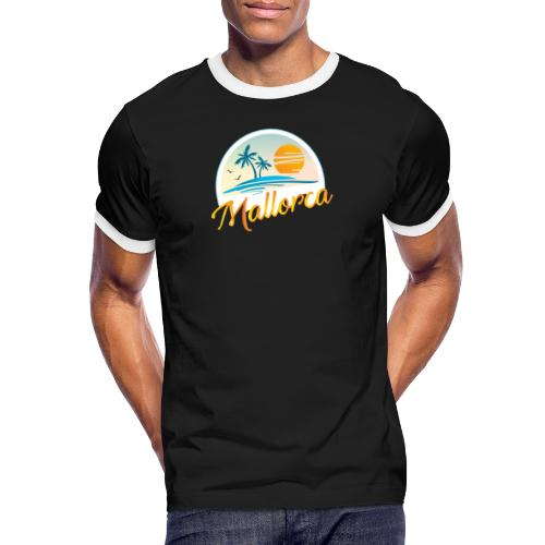 Mallorca - die goldene Insel der Lebensqualität - Männer Kontrast-T-Shirt