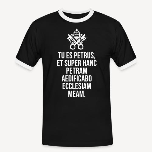 TU ES PETRUS - Men's Ringer Shirt