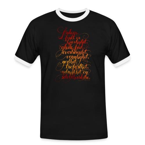 Åndens frukt - Kontrast-T-skjorte for menn