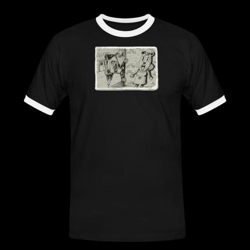 Take Out Techniques - Koszulka męska z kontrastowymi wstawkami