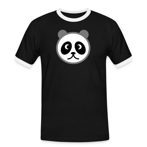 Panda - Männer Kontrast-T-Shirt